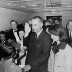 Lyndon Johnson sworn in as president. Jack Brooks archive