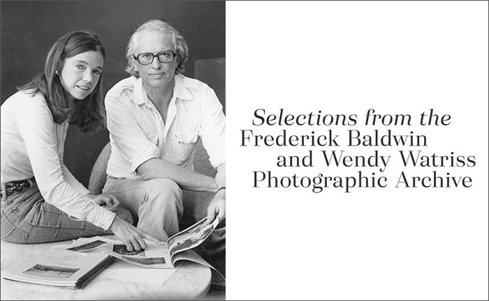 Selections from the Wendy Watriss and Fred Baldwin Photographic Archive