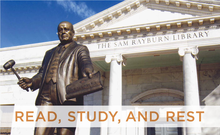 Read, Study, and Rest: Rayburn's Library