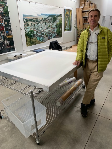 Robert Polidori in his studio, Ojai, California, 2019