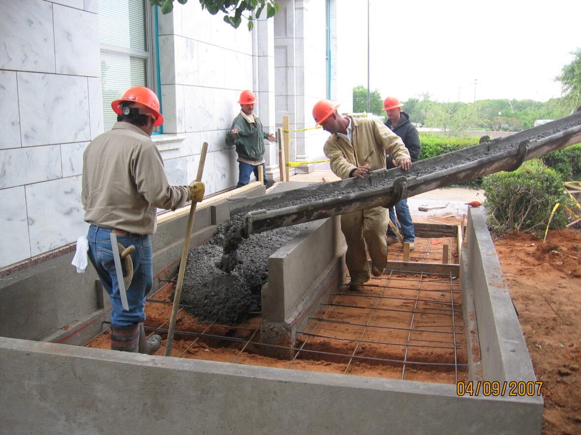 Laying the ramp