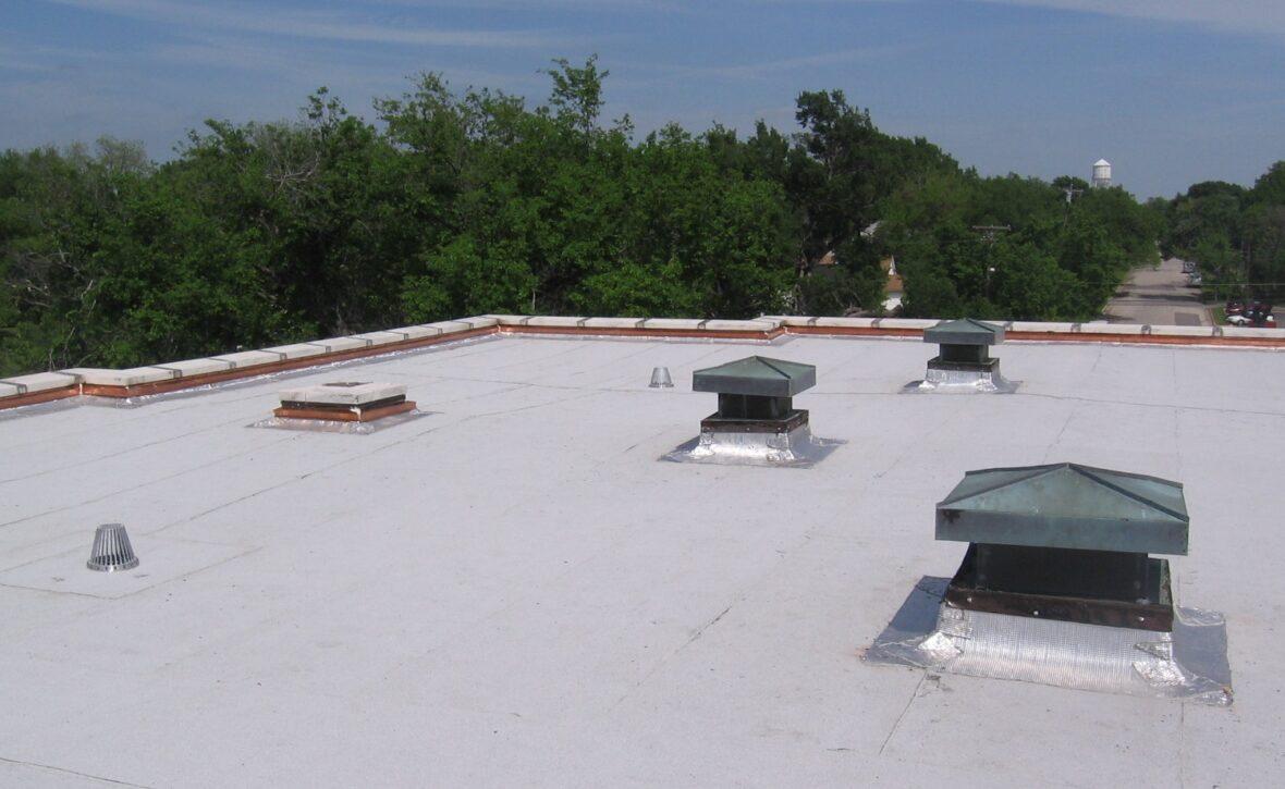 Completed roof repair