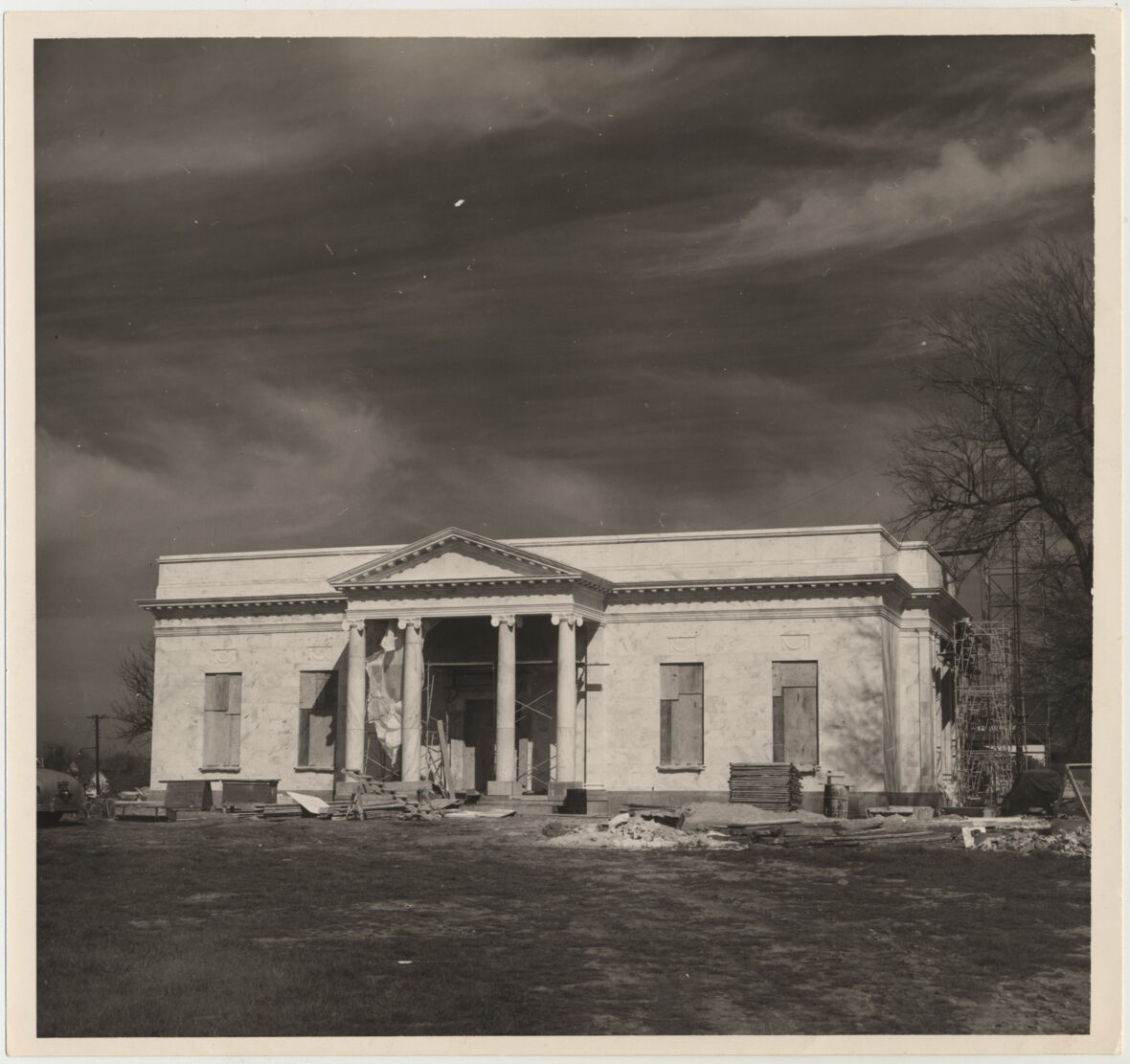 Sam Rayburn Library under construction, March 1957. Sam Rayburn Papers. di_03282