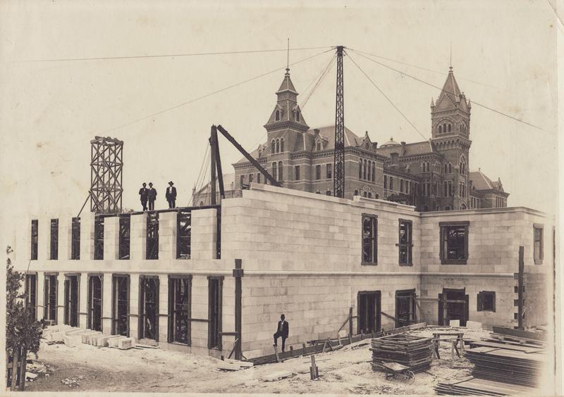 Construction photo of Battle Hall